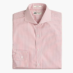 Thomas Mason® for J.Crew Ludlow cutaway collar shirt in red check