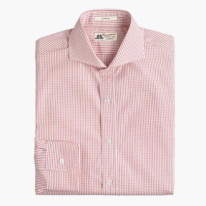 Thomas Mason® for J.Crew Ludlow cutaway collar shirt in red check