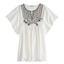 Embroidered tassel beach tunic