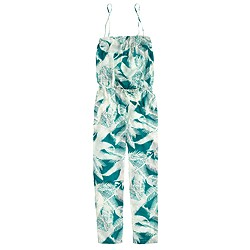 Convertible jumpsuit in tropical fern