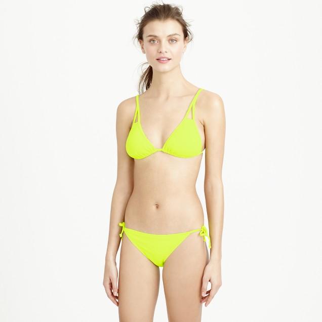 Neon triangle string bikini top