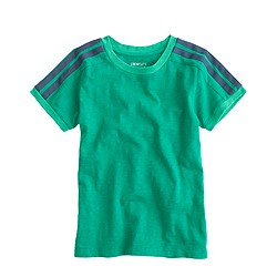 Boys' shoulder-striped T-shirt