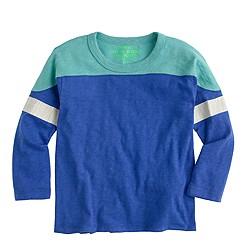 Boys' three-quarter-sleeve football T-shirt