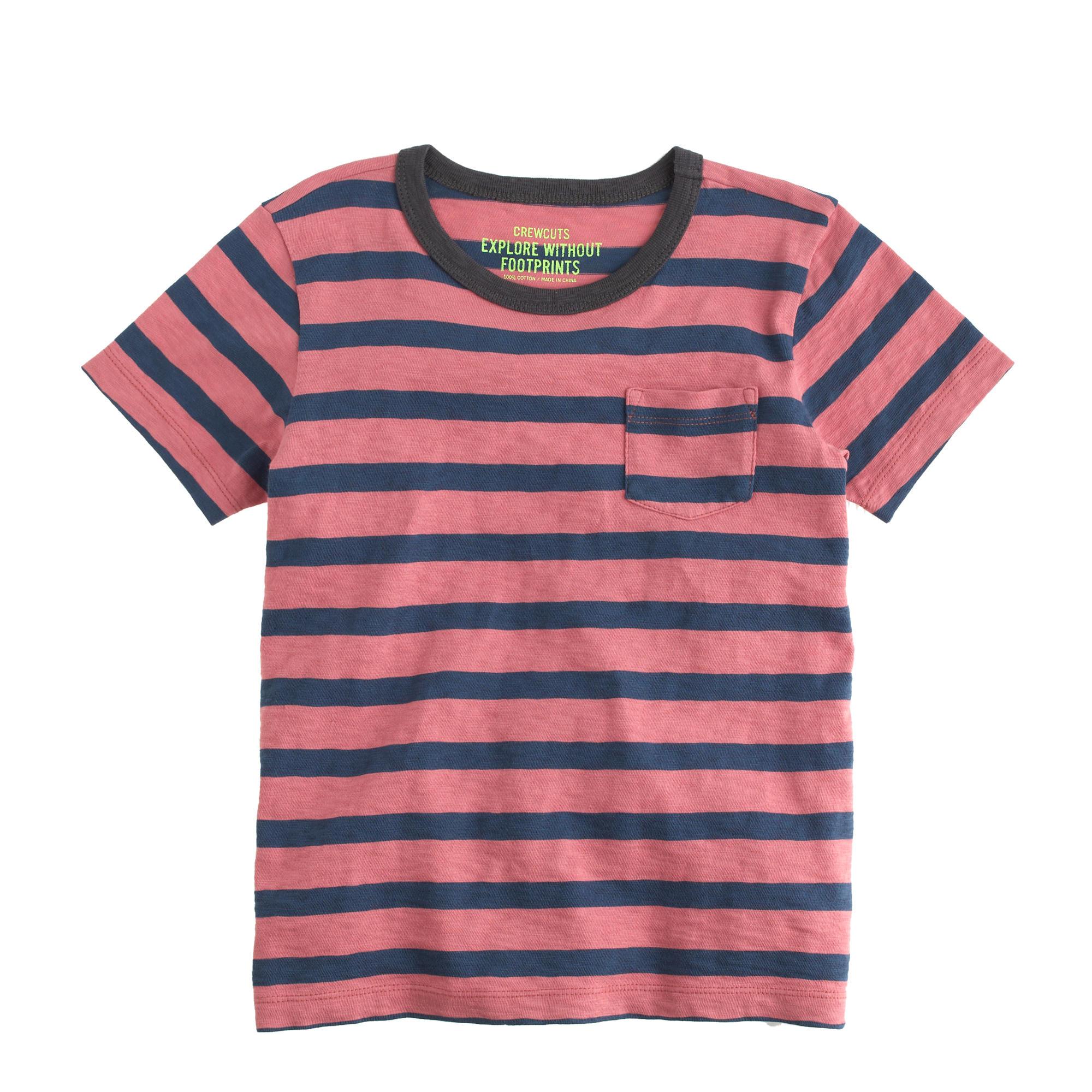 Boys 39 pocket t shirt in dusty barn stripe j crew for Boys pocket t shirt