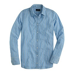 Boy shirt in tidewater stripe