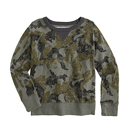 Boys' sweatshirt in faded sage camo