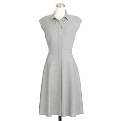 Petite cap-sleeve shirtdress in Super 120s wool