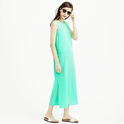Petite side-slit maxi tank dress