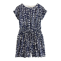 Girls' drapey heart romper