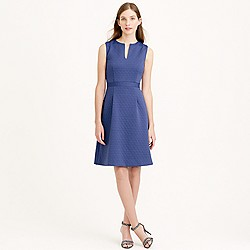 Petite sleeveless textured jacquard dress