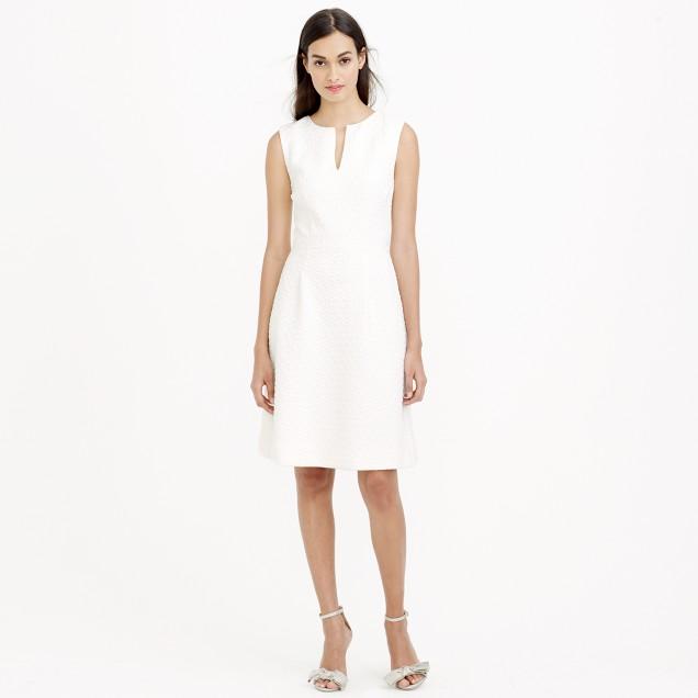 Sleeveless textured jacquard dress