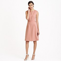 Sleeveless textured jacquard dress
