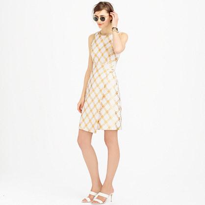 Collection metallic tweed wrap-skirt dress