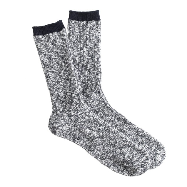 Two-tone marled trouser socks