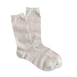 Heather-striped trouser socks