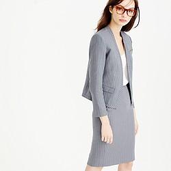 Cropped pinstripe blazer