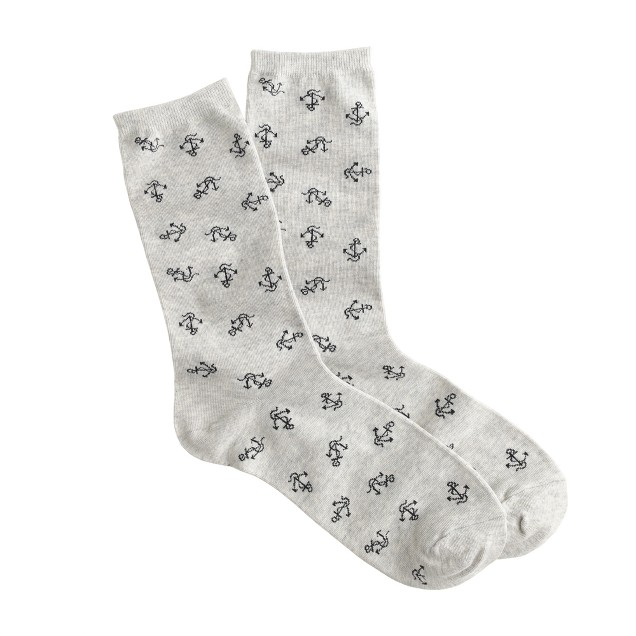 Anchor trouser socks