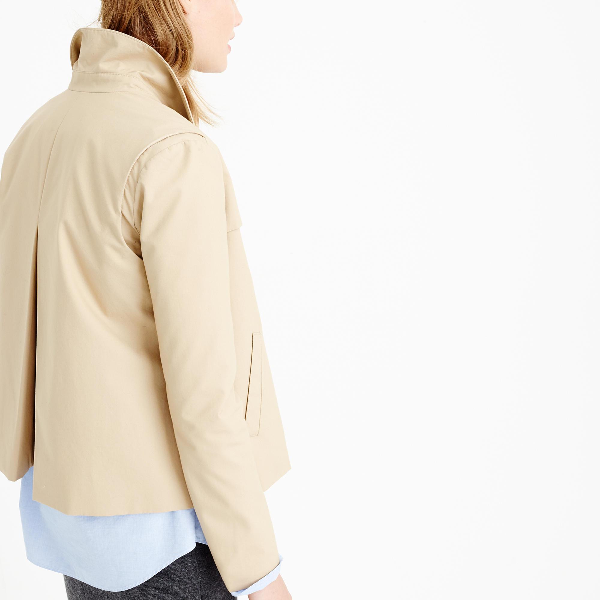 Petite Japanese poplin swing trench coat : Women Jackets ...