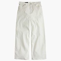 Petite Rayner wide-leg jean in white