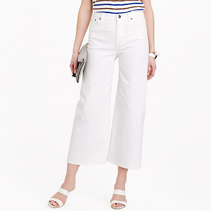 Rayner wide-leg jean in white