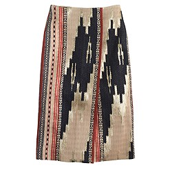 Collection metallic ikat wrap skirt