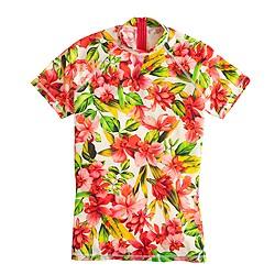 Hibiscus short-sleeve rash guard