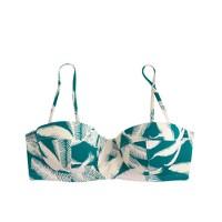 Tropical fern underwire bikini top