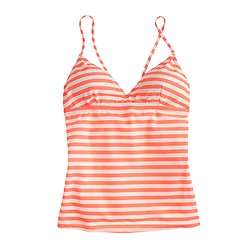 Striped swing tankini top