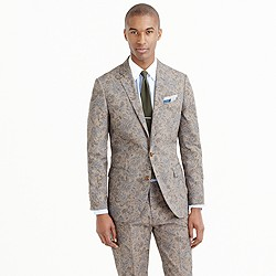 Ludlow suit jacket in floral Japanese cotton