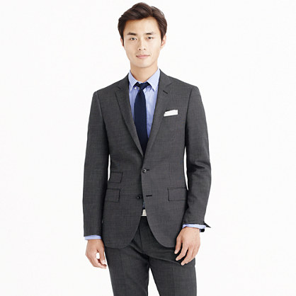 Ludlow suit jacket in Italian tick-weave wool-cotton