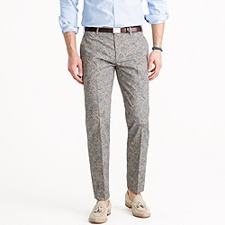 Ludlow suit pant in floral Japanese cotton