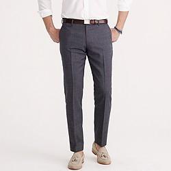Ludlow suit pant in Italian tick-weave wool-cotton