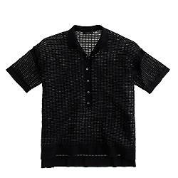 Collection mesh polo shirt