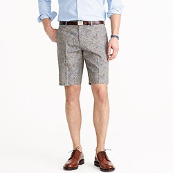 Ludlow suit short in floral Japanese cotton