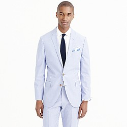 Ludlow suit jacket in engineer-striped cotton