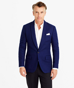 Ludlow shawl-collar dinner jacket in fiore cotton