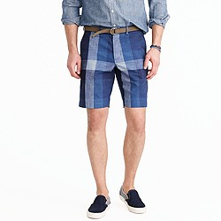 Wallace & Barnes worker suit short in indigo buffalo check