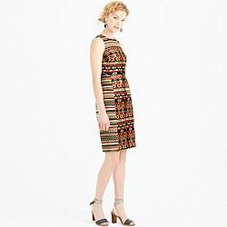 Collection metallic tweed sheath dress