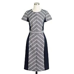 Petite colorblock chevron dress