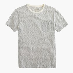 Textured pocket T-shirt in wavy stripe