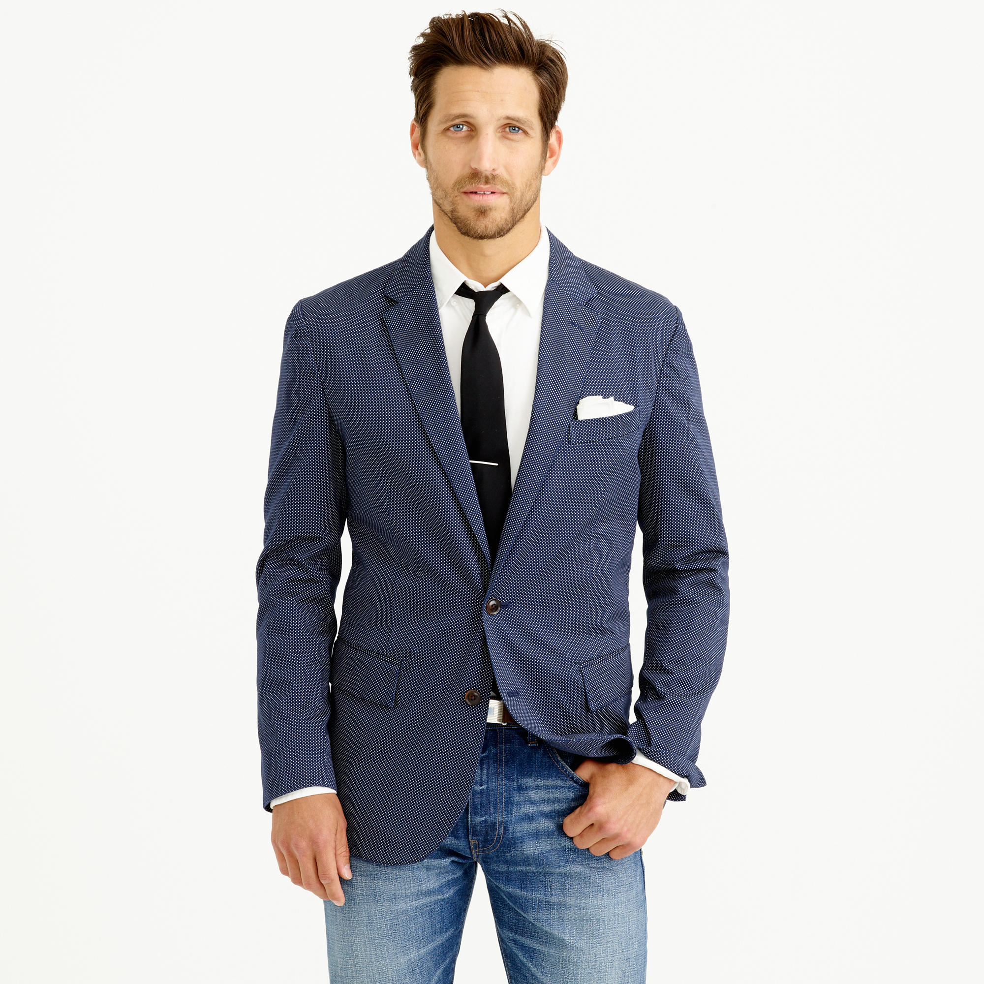 Crosby sportcoat in lightweight pindot cotton : | J.Crew