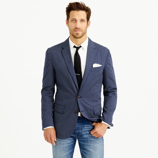 Crosby sportcoat in lightweight pindot cotton