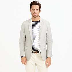 Ludlow sportcoat in fine-striped cotton