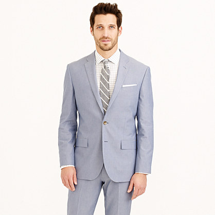 Crosby suit jacket in Italian cotton oxford cloth