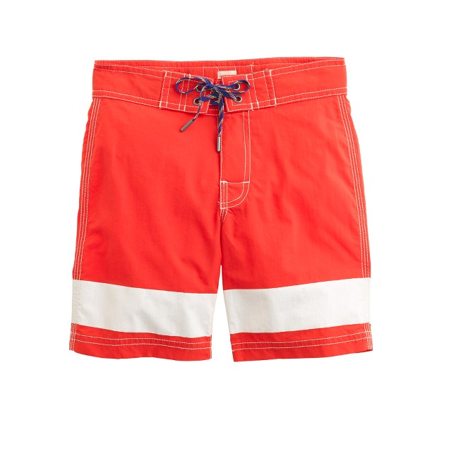 Boys' board short in ocean stripe