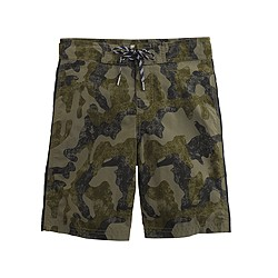 Boys' board short in camo