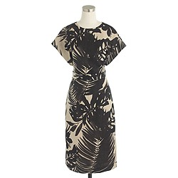 Collection inky floral linen dress