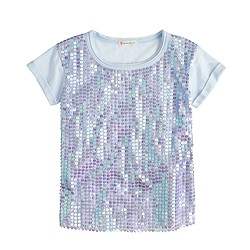 Girls' sequin T-shirt