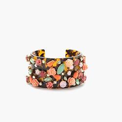 Tortoise wildflower cuff bracelet