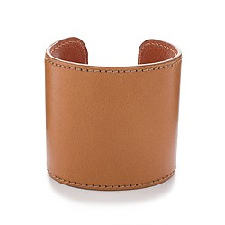 Large leather cuff bracelet